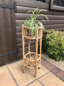 Vintage Wicker/Bamboo Plant Stand, Collection Only