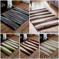 MODERN 5cm WAVE DESIGN SMALL LARGE THICK SOFT NON SHED LOW COST SHAGGY AREA RUGS