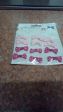 B. Pretty Pk of 12 lovely little spotty Bows self adhesive pale & dark pink