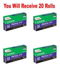 20 Rolls Fuji Fujichrome RDP-III Provia 100F 120 Color Reversal Slide Film