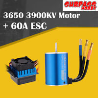 SURPASS HOBBY 3650 3900KV Brushless Motor 5mm+60A ESC For 1/10 Bigfoot RC Car