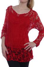 Langarm Damenblusen, - tops & -shirts aus Mischgewebe in Größe 46