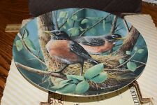 Vintage Knowles Porcelain Plate The Robin by Kevin Daniel In Box