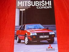 MITSUBISHI Cordia 1800 Turbo ECI Prospekt von 1985