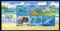 Kiribati 2008 MNH Phoenix Island Protected Area 6v M/S Coral Birds Sharks Stamps