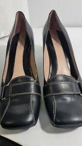 Nine West Pink & Black Closed Toe Dress Shoe Women's Size 10M