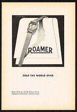 1940s Old Vintage 1949 Meyer Studeli Roamer Swiss Watch Paper Print Ad