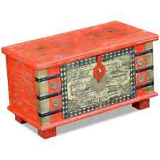 vidaXL Storage Chest Red Mango Wood 80x40x45cm Oriental Design Cabinet Box