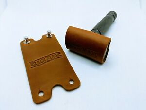 Safety razor travel cover (Genuine rawhide leather)