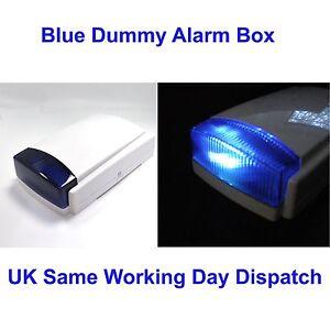 Dummy Alarm Box BLUE Long Lasting dual Flashing 2 LED flasher Weatherproof