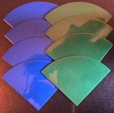 ELLO LARGE QUARTER CIRCLE PANELS x 8.  GREEN / BLUE.  UK DISPATCH
