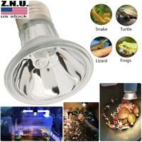 US UVA+UVB Pets Basking Light Reptile Heating Bulb Full Spectrum Appetite Lamp
