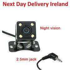 2.5mm Jack Car Rear View Reverse Backup Night Vision Camera Parking Monitor