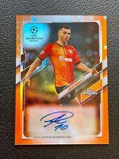 2020-21 Topps Chrome Autographs Orange Bubble Refractors Junior Moraes Donetsk