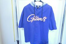 New York Giants Est #25 Button Up Hoodie Short Sleeve Be Ready For Super Bowl Lg
