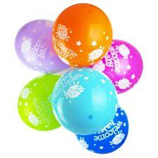 10 X baptême rose 30.5cm remplit hélium ou Air Ballons PETITE FILLE/garçon