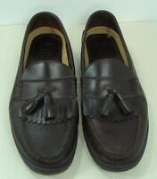 French Shriner Mens Brown Leather Cortland Tassel Loafer Shoes 12 W