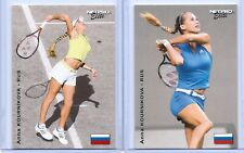 """2"" ANNA KOURNIKOVA 2003 ""1ST EVER PRINTED"" NETPRO ELITE ROOKIE CARD LOT!"