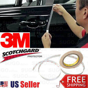 3M 4 Door Edge Anti Scratch Guard Chip Trim Paint Protector CLEAR Vinyl Stripe
