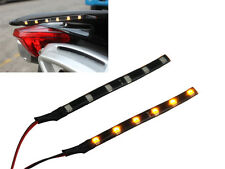 Pair Of Amber LED Stick On Indicator Turn Signal Strips For Motorbike Car Van