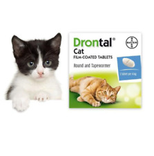 Dewormer for Cat Allworms Round and Tap Worm 8 Tabs EXP 04/2022