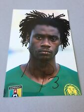 Nicholas N 'KOULOU CAMEROUN FOOTBALL EN-personne signed photo 10 x 15 autographe