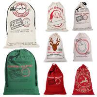 Large Christmas Santa Sacks Stockings Hessian Children Gift Bags Tree Decoration