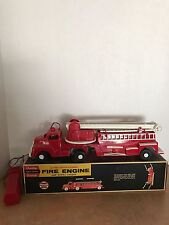 Andy Gard 1950s Fire Aerial Ladder Truck Never Used Original Box Remote Control