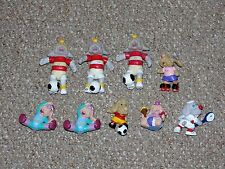 Vintage 1980s Wrinkles Dog Puppet Lot of 9 Poseable & PVC Figures