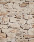 Tapete Steine Mauer Steinoptik Bruchsteine Steintapete beige braun grau 05547-30