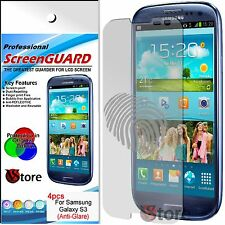 4 Film Opaque Pour Samsung Galaxy S3 i9300 Antireflet Anti-traces Films