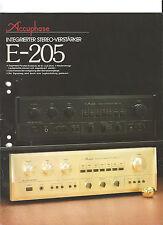 Accuphase e-205 prospetto Catalogo stereo integrato amplificatore TOP!!!