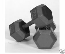 Hex Dumbbells New USA Sports Cast Iron Gray Pair 70 lb Home Gym 2 X IHD-070