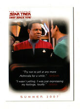 Star Trek QUOTABLE DS9 (SD07) San Diego Comic-Con Exclusive Promo Card