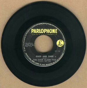 """PHILIPPINES:THE DAVE CLARK FIVE - Over And Over,7"""" 45 RPM,Record,Vinyl,60's POP"""