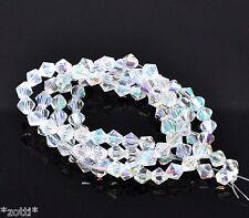 50 Glasperlen Bicone Rhombe irrisierend 6mm Glasschliffperlen Kristall Perlen