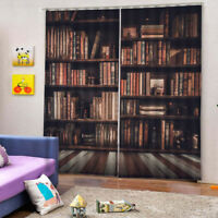 Bookcase Curtains Drapes for Living Room Kids Room 2 Panels Set, 65x59inches