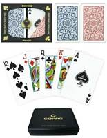 Copag 2 Decks 1546 Series 100% Plastic Poker Casino Playing Cards + Branded Case