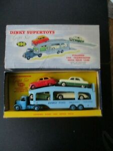 "ORIGINAL DINKY GIFT SET No 990 ""PULLMORE CAR TRANSPORTER with FOUR CARS"""