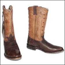 Women's FRYE WYATT AMERICANA Pull On Vintage Western Boots Leather Brown US 8