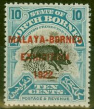 Lightly Hinged George V (1910-1936) North Bornean Stamps