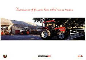 Vintage David Brown 1290 Case 1394 International 885 Tractor Poster Brochure A3