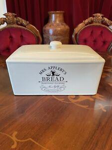 Stunning Vintage Ceramic Bread Bin