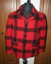 Vtg Men's Buffalo Plaid Cpo Field Jacket Barn Coat Hunting L PackerLand Sportogs