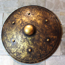 Hand-Made Iron European Medieval Knight Shield Handcrafted Metal Iron Round