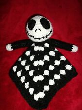 Baby lovey security blanket crochet plush toy Handmade lovie Jack nightmare