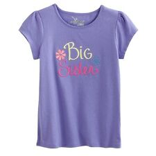 "~NEW ""Big Sister"" Baby Little Girls Graphic Shirt 2T 3T 4T Gift ANNOUNCEMENT $14"