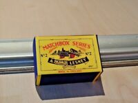LESNEY MATCHBOX NO.2A-1 DUMPER 42mm, REPLACEMENT CUSTOM DISPLAY/STORAGE BOX ONLY
