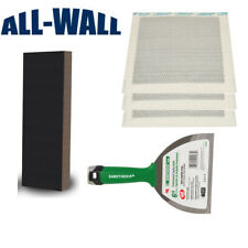 Dry-Wall Repair Patch Kit w/3 Peel+Stick Patches, Putty Knife, XL Sanding Sponge