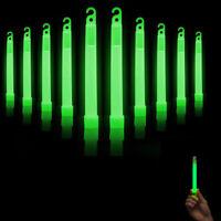 10 Pcs Premium Bright Green Glow Sticks Fluorescent Neon Party Light Stick